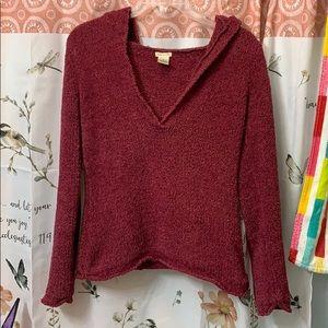 Burgundy Sweater Hooded Soft Gryffindor Cranberry